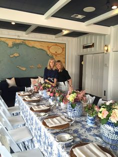 classic • casual • home: Blue and White Bayside Bridal Shower   Nautical chinoiserie