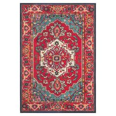 Anchor your dining set or living room seating group in timeless style with this artfully loomed rug, showcasing a classic Persian motif for a touch of elegan...