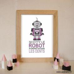 Décoration chambre, salle de bain, enfant - imprimable - n°2 Robot : Décoration pour enfants par cashemir