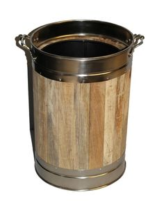 This coal bucket would be a beautiful addition to your fireplace. Being made from wood with a metal trim it has a traditional fire side accessory look.This coal bucket has handles to help you lift and fill your bucket with ease.