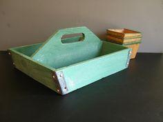 Vintage Green Basket Rustic Garden Decor by RollingHillsVintage, $25.00