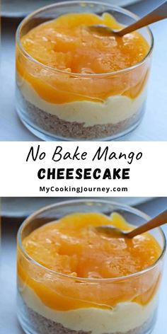This eggless cheesecake can be made couple of days ahead and so there is no sweating on the day of party. #dessert #mango #mangocheesecake #mycookinjourney @mycookinjourney | mycookingjourney.com