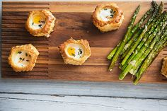 Parmesan and Thyme Pastry Baked Eggs with Asparagus for an Easy Brunch   eHow Food