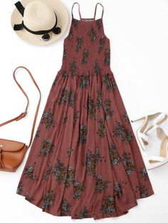 GET $50 NOW | Join Zaful: Get YOUR $50 NOW!http://m.zaful.com/floral-a-line-smocked-midi-dress-p_282907.html?seid=cm1enfdv2prp412d2jg7q72eo2zf282907
