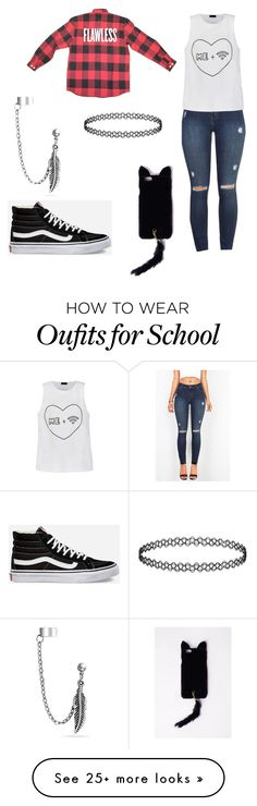 """""""School sucks"""" by lig3126 on Polyvore featuring Ally Fashion, Vans, Missguided and Bling Jewelry"""