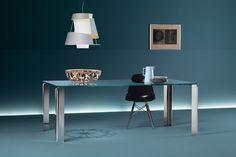 GlazenDesignTafel.nl | Glazen eettafel Newton | FIAM | Italian design | Glass table by Vittorio Livi | vidre glastoepassingen, Leiden