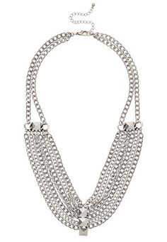Chain and Stud Draped Statement Necklace (original price, $14) available at #Maurices
