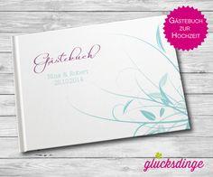 ♥ GÄSTEBUCH GRÄSER ♥ zur Hochzeit Format A5/A4 von glücksdinge - FEINE DRUCKSACHEN auf DaWanda.com