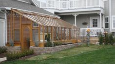 Custom 9 x 22 Tudor Lean-to Greenhouse in Utah