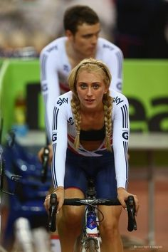 Laura Trott. Olympic and Commonwealth gold medal winner