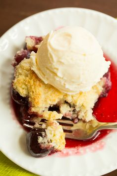 Cherry Cobbler | browneyedbaker.com