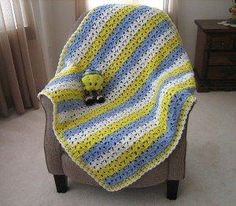 Tweetie Bird Crocheted Afghan tutorial - Great for new baby boys! by isabelle