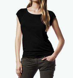 Bamboo Raglan T-Shirt schwarz