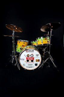 Custom built drum set for Camp Riley (Riley Children's Foundation).