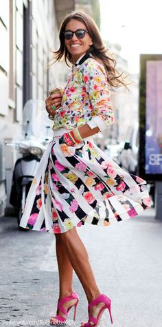 Colorful Street Style | Silvia Olsen Photo NOTE: New Women's Style group board: NO SPAM! http://pinterest.com/robinettekelly/womens-style/