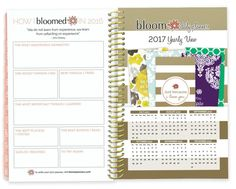 Bloom Daily Planners 2016 Calendar Year Daily Planner - Passion:Goal Organizer - Monthly Weekly Agenda Datebook Diary - January 2016 - December 2016 - 6%22 x 8.25%22 - Gold-01