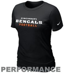 Nike Cincinnati Bengals Women's Legend Wordmark Performance T-Shirt - Black