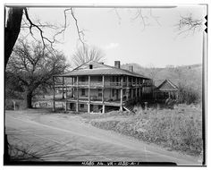 View of Sweet Chalybeate Springs Hotel, Alleghany County, Virginia