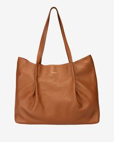Nina Ricci Ondine Leather Pleated Tote: Brown | Shop IntermixOnline.com