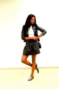 http://perfecto et mocassin/ | Preppy rock - Styles by Assitan. Blog mode. French style blogger
