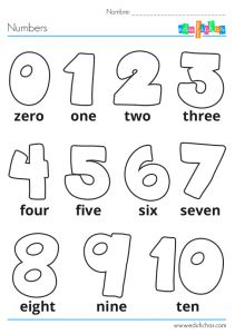 Pin by nany vico on ingles niños Numbers Preschool, Preschool Learning, Kindergarten Worksheets, Math Activities, Abc Worksheets, Kids English, English Lessons, Learn English, Teaching French