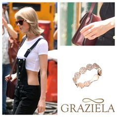 How awesome!!! Taylor Swift was spotted out and about yesterday in our Rose Dotted Band Ring!