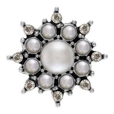 Crown Jewels Pearl Magnolia and Vine Snap Vine Design, Black Rhinestone, Crown Jewels, Luxury Jewelry, Black Diamond, Vines, Brooch, Pearls, Crystals