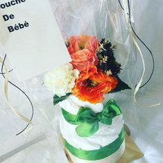 『Coeur』オリジナルオムツケーキ 秋カラーで。出産祝い ベビーシャワー