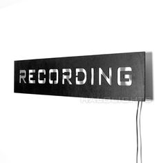 Lighted Recording Warning Sign LED Backlit On Air by HaloLights