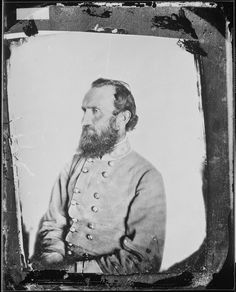 """Gen. Thomas Jonathan """"Stonewall"""" Jackson, who earned his nickname for his unwavering resolve at the First Battle of Bull Run. Off the battlefield, Jackson was a natural teacher. He taught himself to read and became a professor at the Virginia Military Institute (VMI) after the war. Fun fact: A quick Google search reveals that Jackson may have been affected by narcolepsy and prone to falling asleep while eating (!).    1863. George W. Minnes. Mathew Brady Collection. (Army)"""