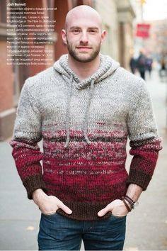 """Пуловер мужской с капюшоном """"Man's Hoodie"""" by Josh Bennett; Vogue Knitting, Late Winter 2017. Обсуждение на LiveInternet - Российский Сервис Онлайн-Дневников"""