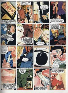 From the 1985 DC graphic novel adaptation of Robert Bloch's Hell on Earth. Art by Keith Giffen.