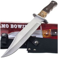 211145 Alamo Burlwood Hunting Bowie Knife | MooseCreekGear.com | Outdoor Gear — Worldwide Delivery! | Pocket Knives - Fixed Blade Knives - Folding Knives - Survival Gear - Tactical Gear