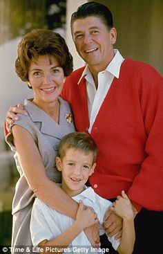 The couple with their son Ronnie before the presidency...