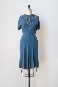 vintage 1940s dress | 40s dress | Thoughts of You Dress #vintage #vintagedress