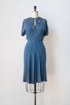 vintage 1940s dress | 40s dress | Thoughts of You Dress #vintage #vintagedress