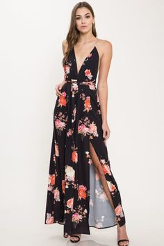 fbb79dd4f041 Premier Amour Sleeveless Cold Shoulder Floral Maxi Dress | Products ...