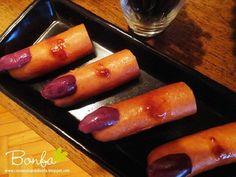 Salsichas com azeitonas (ficam ótimas de recheio de cachorro-quente também!)