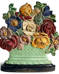 Vintage cast iron doorstop.  I'd actually like to have this; I use doorstops, but not pretty ones!