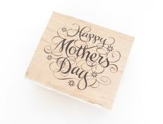 Wood Happy Mothers Day Stamp, Stamp Crafts, Stationary Crafts, Paper Stamping, Scrap Booking