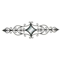 Decmode Metal Mirror Wall Scroll, Black