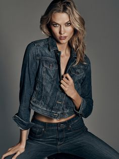 ffc6c2415 Karlie Kloss Flaunts Her Midriff in Express Denim Campaign - Fashion Gone  Rogue