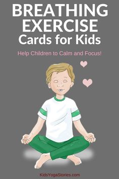 40 Breathing Exercise Cards for Kids: Dont forget to breath! Help children to calm down and focus! Practice any one of these forty breathing techniques to release stress and tension. Help your children feel calm and focused with breathing exercises like Deep Breathing Exercises, Yoga Breathing, Yoga For Kids, Exercise For Kids, Children Exercise, Preschool Yoga, Card Workout, Mindfulness For Kids, Mindfulness Activities