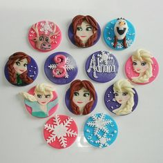Frozen  Fondant/Edible Theme cupcake toppers by DsCustomToppers, $39.99