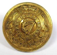 Original Gilt Victorian Button. 5th, Fifth Royal Irish Lancers    eBay