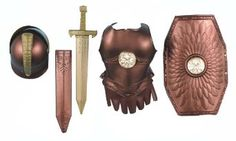 Amazon.com:  Roman Costume Child Size Gold Chest Armor Set