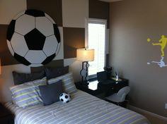 Soccer-loving boy's dream room!
