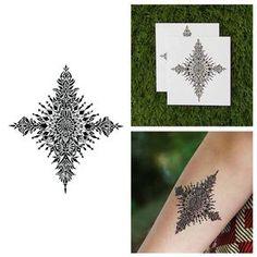 watercolor snowflake tattoo - Google Search