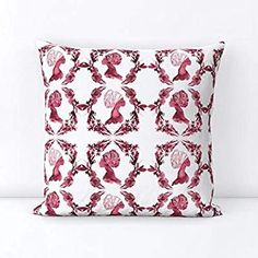 APHROCHIC(RED) Sisters Throw Pillow Holiday Gift Guide, Holiday Gifts, Cool Wallpaper, Creative Business, Custom Fabric, Spoonflower, Tablescapes, Free Pattern, Design Inspiration