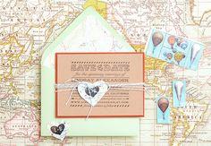 DIY Tutorial: Travel-Inspired Save the Date via Oh So Beautiful Paper: http://ohsobeautifulpaper.com/2014/02/diy-tutorial-travel-inspired-save-the-date/   Tutorial + Photo: Antiquaria for Oh So Beautiful Paper #DIY #wedding